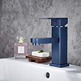 Grifos de lavabo YHSGY Negro/Oro Rosa/Color Azul Grifo Monomando Lavabo Agua...