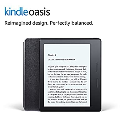 """Kindle Oasis E-reader with Leather Charging Cover - Black, 6"""" High-Resolution Display (300 ppi), Wi-Fi, Built-In Audible - Includes Special Offers (Previous Generation - 8th) from Amazon"""