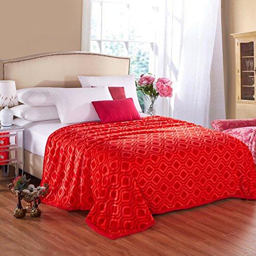 Super de peluche y cómodo cálido franela manta sofá y TV manta para todo el año uso sofá/cama/coche portátil Plaids manta/manta de viaje/oficina del almuerzo, poliéster, Romantic red ring, 150cmx200cm