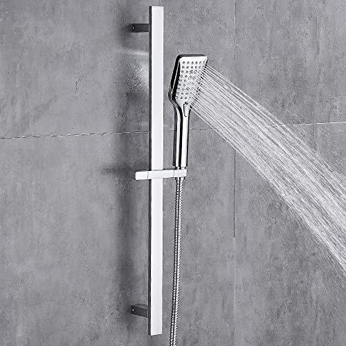 GERUIKE 3 Modos de Rociado de Agua Kit de Ducha de Mano para Baño con Manguera de Acero Inoxidable y Sistema de Ducha con Barras Deslizantes Ajustables para Uso en el Hogar y el Gimnasio
