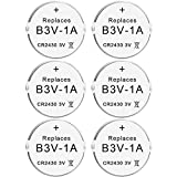 Abeden B3V 1A Lithium Replacement Batteries Compatible with High Tech Pet Single Electronic Collar Battery for Model MS-4 and MS-5 6 Pack
