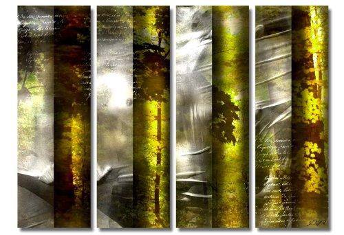 Marteau annonce. Impression sur toile XXL Bon Marché et moderne 4teilig (Nature _) Photos Cadre avec châssis géant dans le Photos Boutique. 4 x 30 x 100 cm version Impression artistique comme toile de fond avec cadre en bois. Idées décoration pour une installation meilleur marché comme peinture à l'huile photo poster affiche avec cadre photo. Décoration pour salon et chambre – Picture Style (abstrait naturel arbres contours Police Gris Vert Marron). 100% fabriqué en Allemagne – QUALITÉ en Allemagne. Pour Plus De Photo Boutique d'images en ligne.