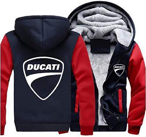 Últimas sudaderas con capucha Sudadera chaqueta con cremallera de los hombres - DUCATI impresión ocasional de la capa jersey de béisbol de primavera suéter con capucha deportiva - adolescente de regal