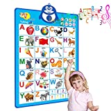 Electronic Interactive Alphabet Wall Chart, Talking ABC & 123s & Music Poster, Perfect Educational Toys for 4 Year olds and Learning Toys for 5 Year olds