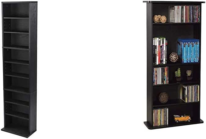 Atlantic Herrin Recommended Adjustable Media Cabinet Ebony Textured Superlatite RA171