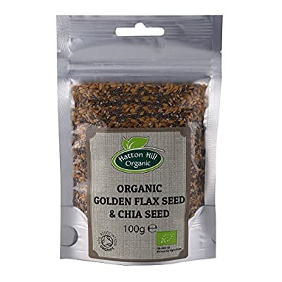 Organic Golden Flax & Chia Seeds 100g by Hatton Hill Organic - Certified Organic by Hatton Hill Organic