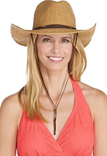 Coolibar UPF 50+ Women's Laurel Canyon Cowboy Hat - Sun Protective (One Size- Toast)