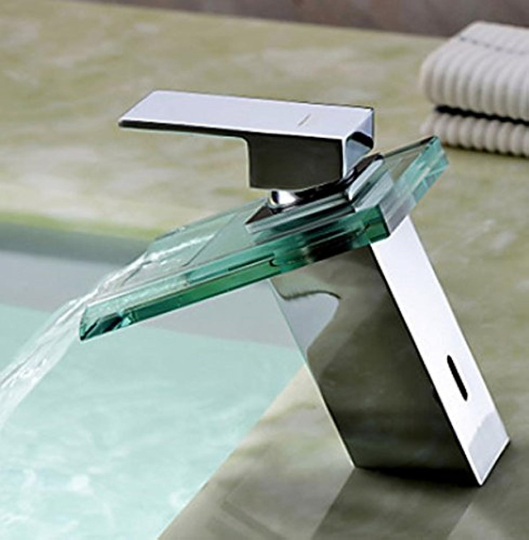 Verchromt poliert bad wasserhahn, wasserhahn mit glas bad wasserhahn hei und kalt