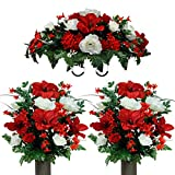 Sympathy Silks Artificial Cemetery Flowers – Realistic Vibrant...