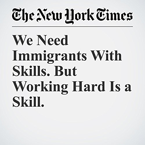 We Need Immigrants With Skills. But Working Hard Is a Skill. audiobook cover art