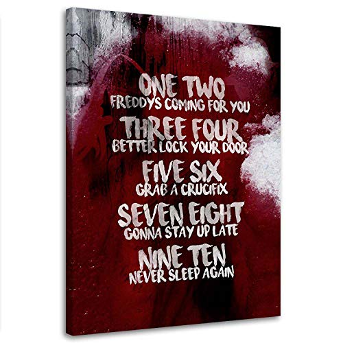 Bild auf Leinwand Kinofilm 40x60 cm Kunstdruck modern Inschrift Rot