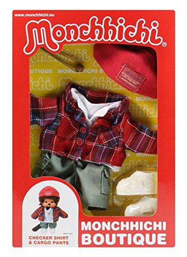 Sekiguchi 254740 - Monchhichi Boutique B1 Checker Outfit mit Mütze