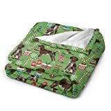 NTMCXFW 80'X 60' Blanket German Shorthaired Pointer Dogs Christmas Ultra-Soft Micro Fleece Blanket Throw Super Soft Cozy Bed Blanket for Bed Sofa Couch Living Room Beach Picnic Fall Winter Use