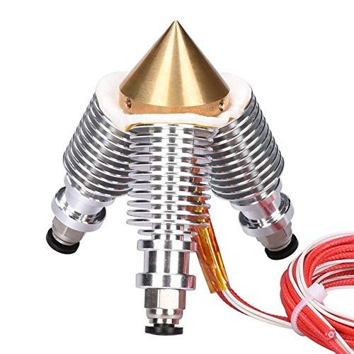 HUANRUOBAIHUO-HAT V6 Messing Diamant-Düse Hotend Extruder Multi-Düse 3 in 1 heraus 0.4MM Düse 1,75 mm Filament 3D Printer Kit-Teile 3D-Drucker Extrudern Zubehör (Size : Diamond Extruder Set)