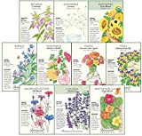 Botanical Interests 'Edible Flowers Seed Collection - 10 Packets with Gift Box…