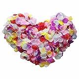 Pétalos de rosa monolíticos y coloridos, de Skyshadow, flores artificiales, pétalos de seda para bodas, ambientes románticos y propuestas, 2000 pcs