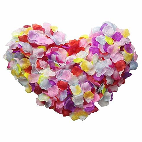 Skyshadow, petali colorati di fiori artificiali per decorazioni romantiche da matrimonio, 2000 pezzi