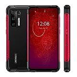 DOOGEE S97 Pro Rugged Smartphone, Helio G95 8GB+128GB, Android 11 Teléfono Móviles Antigolpes, Cámara Cuatro 48MP, 40m Telémetro Láser, Batería 8500mAh, Carga Inalámbrica NFC, Rojo