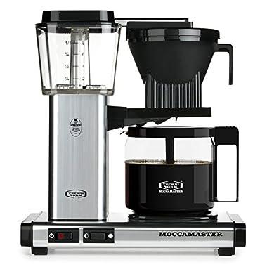 Technivorm Moccamaster 59616 Coffee Brewer, 40 oz, Polished Silver