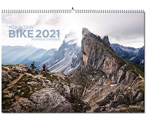 Yohmoe® Mountainbike Kalender 2021 by Markus Greber im großen Panorama-Format (59.4x42.0 cm). Bike Kalender 2021.
