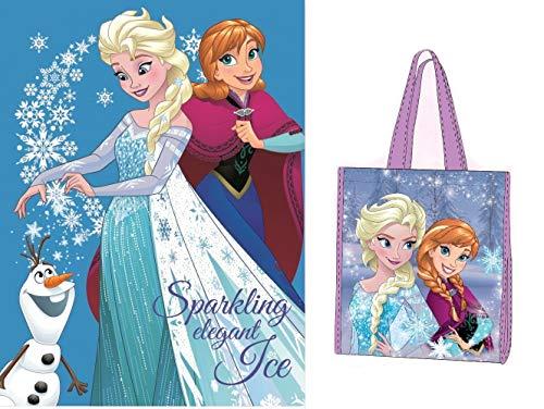 Trendstern ® Frozen Kuscheldecke Die Eiskönigin Anna und ELSA - Fleecedecke Decke+ Extra Zugabe (Variante 5, 120 x 150 cm)