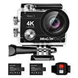 Dragon Touch 4K30fps WiFi Action Camera 16MP Vision3 Underwater Waterproof Camera 170° Wide