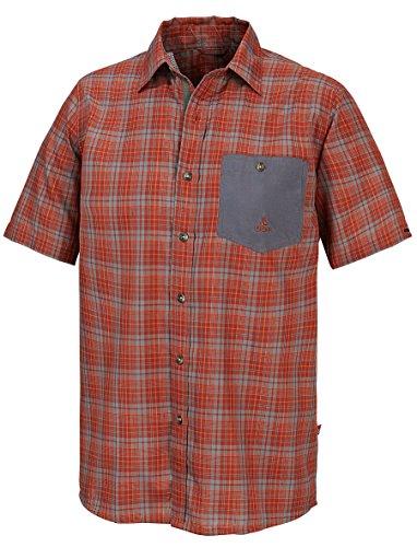 OCK Herren Hemd/bluse Kurzarm, Rot, S