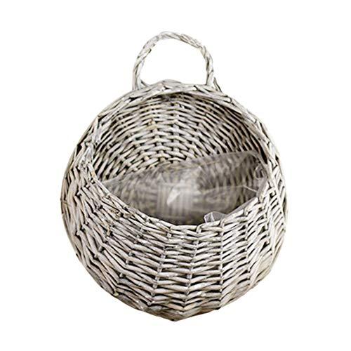 Taloit Maceta y cestas colgantes para colgar en la pared, cesta de mimbre para jardinería, hogar, jardín, boda, decoración de pared