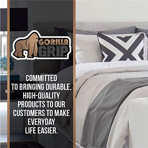 GORILLA GRIP Original Slip Resistant Mattress Gripper Pad, Helps Stop Bed + Topper from Sliding, Stopper Works on Sofa and Couch, Easy to Trim Size, Strong, Durable Grips Help Slipping (Queen)