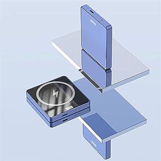 TWDYC Magnetisk trådlös powerbank, bärbar 15 W Qi trådlös snabbladdare, 20 w Pd trådbundet externt batteri, kompatibelt me...