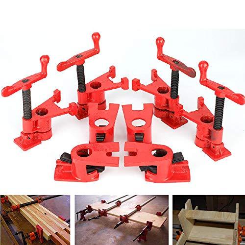 【2021 Neujahrsaktion】Holzbearbeitungsklemmen-Set, 4er-Set 3/4 '' Schnellspanner Robustes, breites Grundeisen-Metallklemmen-Set für die Holzbearbeitung Werkbank für Heimwerker