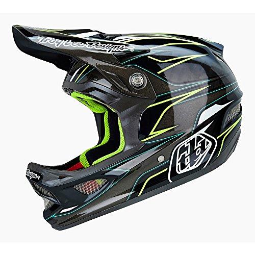 Troy Lee Erwachsene Helm D3 EVO Carbon, Grau, XL