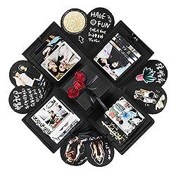 YITHINC Überraschungsbox, Kreative Explosion Box DIY Geschenk Scrapbook und Foto-Album Geschenkbox als Geburtstagsgeschenk über die Liebe, Überraschung zum Öffnen