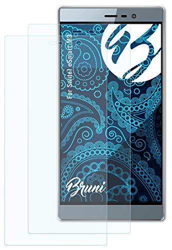 Bruni Schutzfolie kompatibel mit Switel eSmart M3 Folie, glasklare Bildschirmschutzfolie (2X)