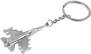 ODETOJOY Metal Fighter Plane Keychain Charm Key Holder Men's Key Chain Souvenir Thank You Gift School Bag Pendant Battlepl...