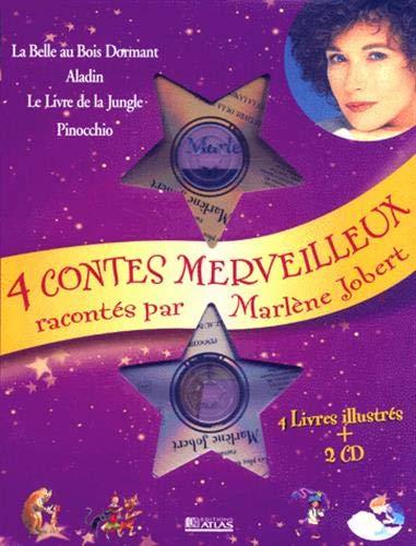 Coffret quatre plus beaux contes du monde (Aladin, Le Livre de la jungle, Pinocchio, La Belle au bois dormant) avec 2 CD