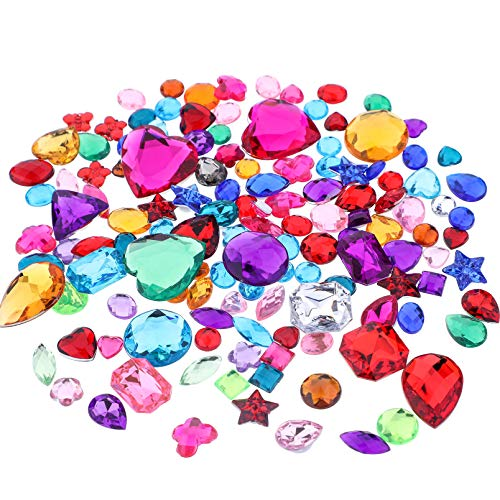 Richness Crystal Stickers Self Adhesive Jewels Kids DIY Gem Stickers Various of Sizes Shapes and Colors (300+300pcs)