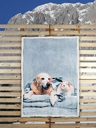 Banzaii Coperta Plaid di Pile da Divano Calda e Morbida con Stampa Digitale - 130x160 cm Friends