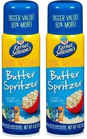 Kernel Season s Movie Theater Butter Popcorn Spritzer Spray 4 Oz, 2 pack