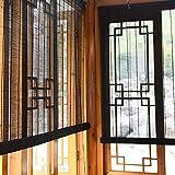 Persiana Estores enrollables Persiana Exterior Enrollable para Ventana/Porche/Balcón/Patio, 40% Persianas de Bambú Opacas con Conexión, 90cm / 110cm / 130cm / 150cm de Ancho (Size : 150×250cm)