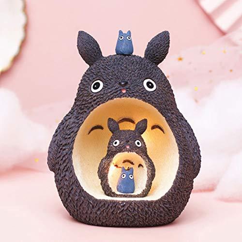Linda Totoro No Cara Hombre Noche Ligero El Viaje de Chihiro Hayao Miyazaki Noche Lámpara para casa Mesa Dormitorio Navidad Decoración Nuevo Regalo de año,01