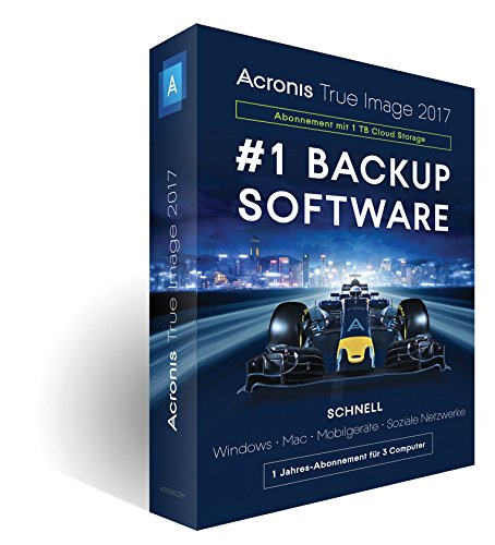 Acronis True Image 2017 - 3 Computer - 1TB Cloud
