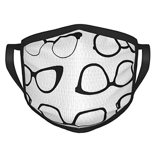 Gafas de moda con impresión 3D para adultos, pasamontañas, bandana para la boca, cubierta protectora Ma-sk para mujeres y hombres