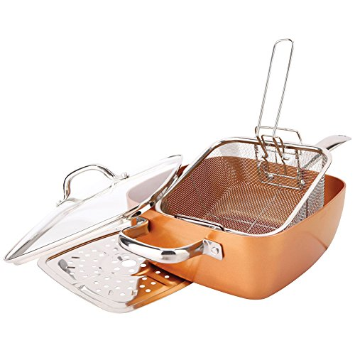 Square Pan Sets FBA_2597 Non-Stick Copper Titanium, 1