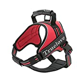 TrueLove Dog Harness No-pull Reflective Stitching Ensure Night Visibility, Outdoor Adventure Big Dog Harness Perfect Match Puppy Vest TLH5753 Now Available in 6 Colors 6 Sizes(Red,S)