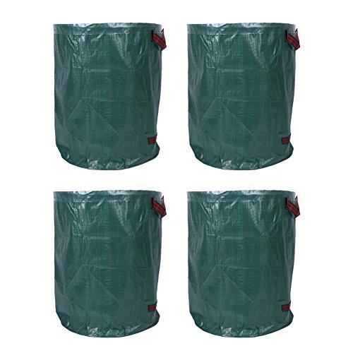 Estink 4 Stück Gartensäck, 270L Wasserdichter und Reißfester Gartenabfallsäcke, aus Polypropylen, bis zu 50kg belastbar