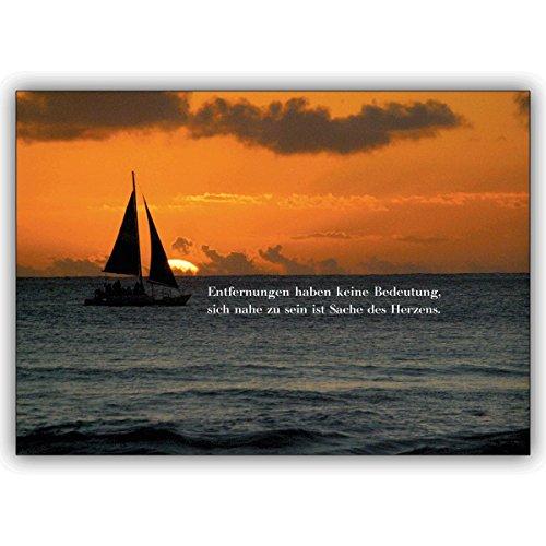 1 liefdeskaart: romantische wenskaart: afstanden hebben geen betekenis. • Mooie vouwkaart met envelop als wenskaart