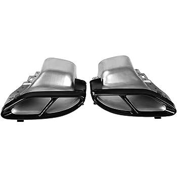 Auto-broy 304/en Acier Inoxydable Tuyau d/échappement Tail Gorge Noir Sorties Queue Cadre Bordure Coque pour Classe A Classe C W205/Coupe B W246/E W213/GLE GLS CLA GLC