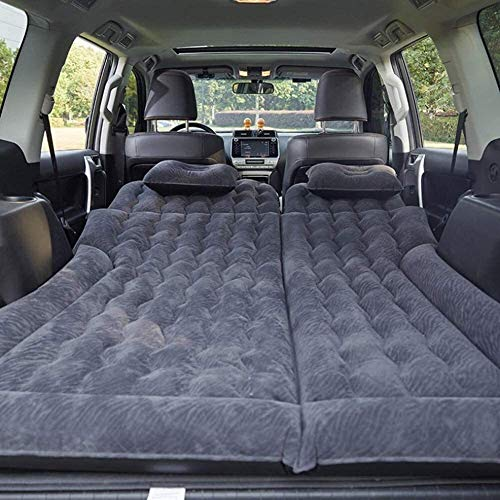Zjcpow Inflatable Car Mattress,Car Bed Mattress with A Electric Pump and Pillow,Auto Portable Air Mattress for Back Seat,Truck,SUV,Minivan,TravelBeige (Color : Gray) xuwuhz (Color : Black)