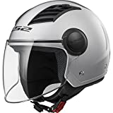 LS2 Casco Moto Of562 Airflow, Gloss Silver Long, XXL